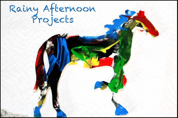 The Bean's finished painted horse