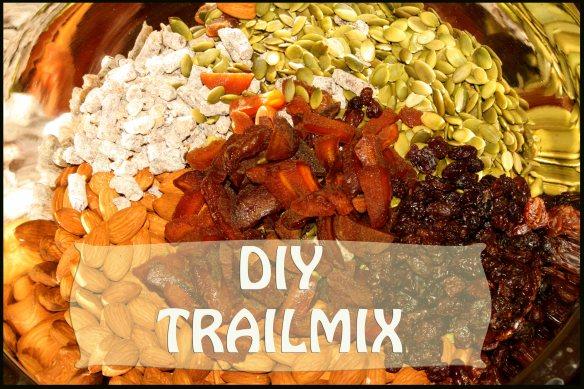 Organic pumpkin seeds, almonds, date pieces, raisins & dried apricots