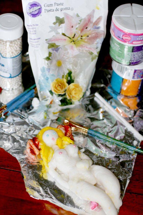 Gum paste lady